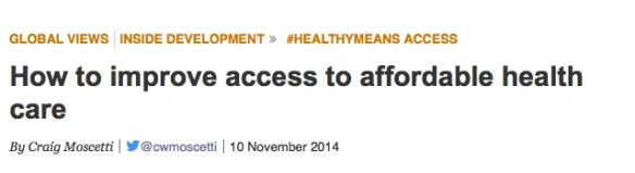 devex healthy means access