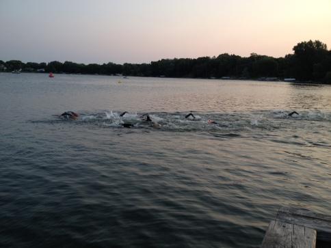 first 100 of swim